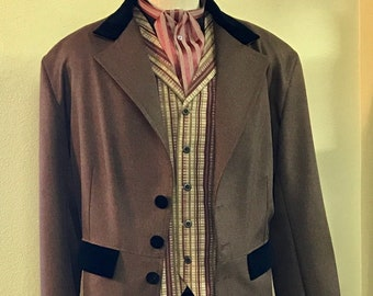 Victorian Old West Frock Coat