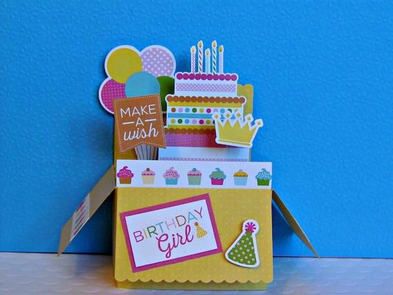 Brilliant Girls Pop Up Card Happy Birthday Card Birthday Cake Card Etsy Personalised Birthday Cards Petedlily Jamesorg