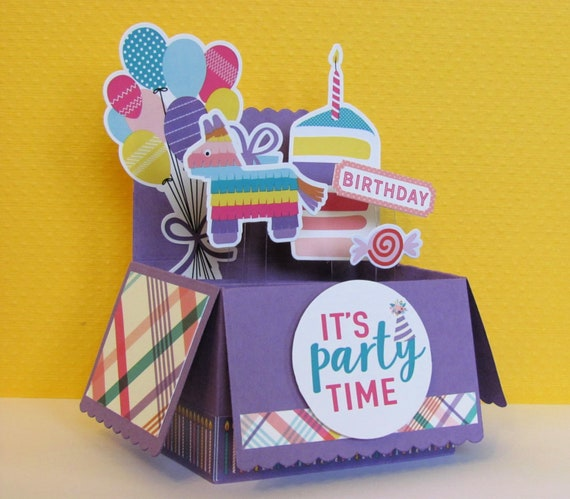 Childrens Pop Up Card Happy Birthday Card Card In A