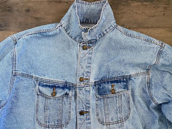 Vintage Oversized Wranglers Jean Jacket - image 8