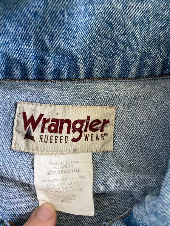 Vintage Oversized Wranglers Jean Jacket - image 10