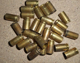 9MM range brass, once fired bullet casings. 500 + pieces, not cleaned or polished. Perfect for Jewelry and Crafts. Crafting, Steampunk, DIY