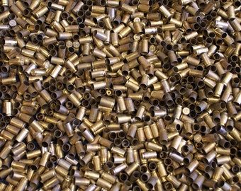 9MM Once Fired Brass 1000 + pieces. Perfect for Jewelry and Crafts. Range Brass, Supplies, Crafting, Steampunk, DIY