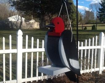 Woodpecker Handcrafted Bird Feeder