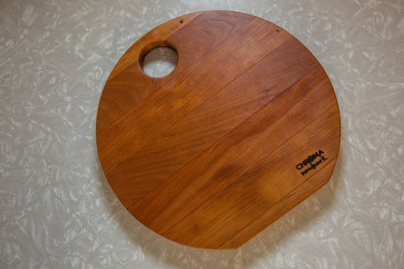 Pleasant Round Cutting Board With Reclaimed Cherry Wood Andrewgaddart Wooden Chair Designs For Living Room Andrewgaddartcom