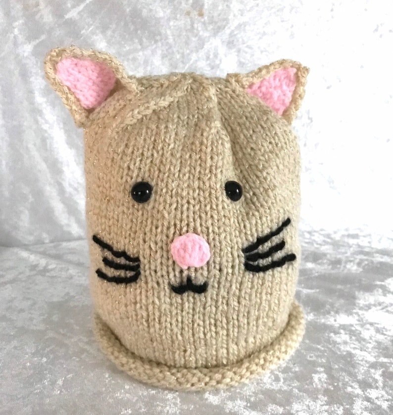 girls hat All sizes Cat hat hand knitted babies hat winter hat Beanie hat