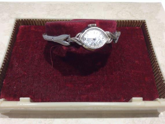 White Gold Gruen Watch