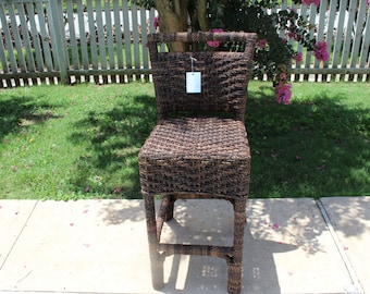 Rattan and Abaca Weave Stool