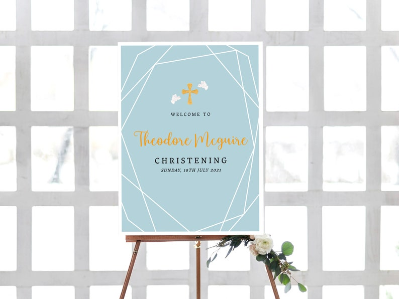 Christening Place Card Template Blue and White Printable Place Cards 0050 Baptism Place Cards Blue Boy/'s Christening Place Cards