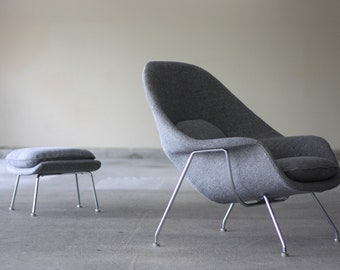 Early 60u0027s Knoll Womb Chair And Ottoman By Eero Saarinen