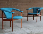 Extremely Rare Pair of Adrian Pearsall Lounge Chairs