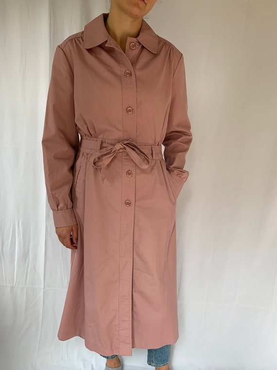 Vintage Dusty Pink Light Weight Trench Coat