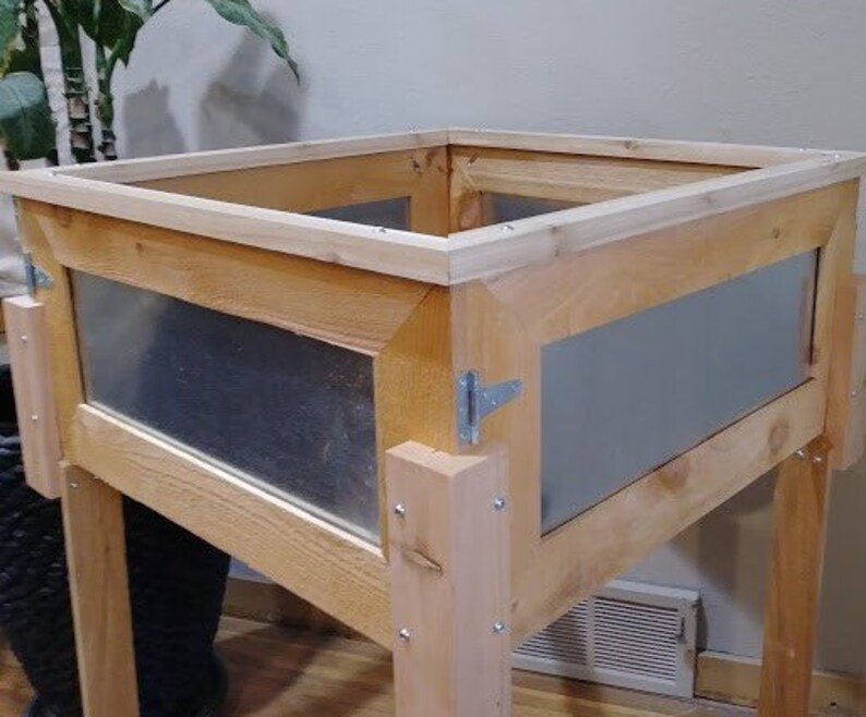 Raised Cedar Garden Planter Box