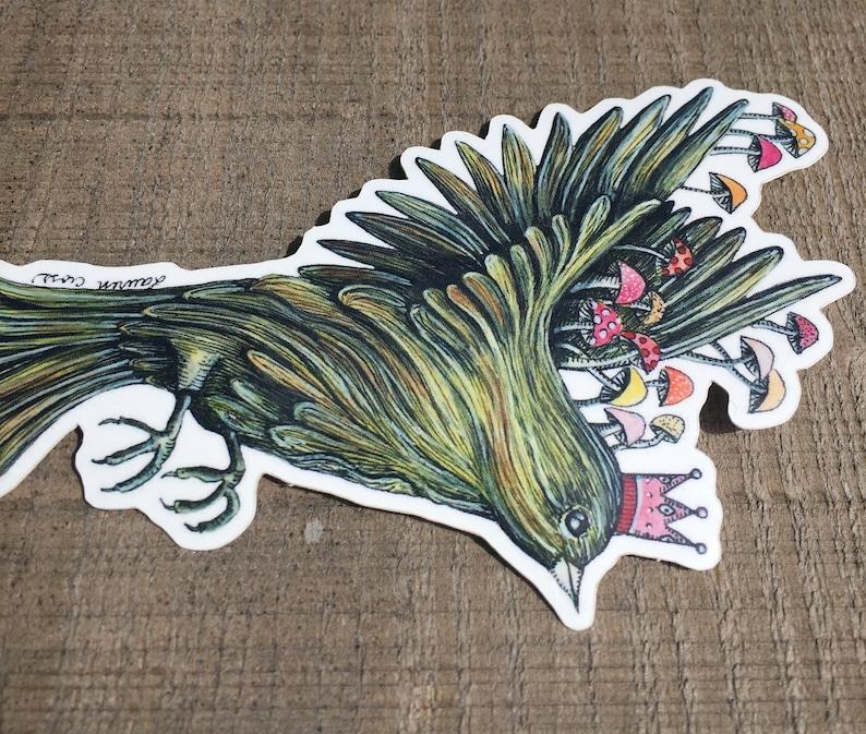 Vinyl Bird Sticker  Illustration Sticker  Bumper Sticker  Waterproof Sticker  Water Bottle Sticker  Bird Sticker