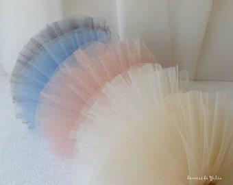 5 colors vintage pleated tulle lace trim mesh polka dot Lolita skirt fabric doll collar trim wedding decoration handicraft supply 15cm width