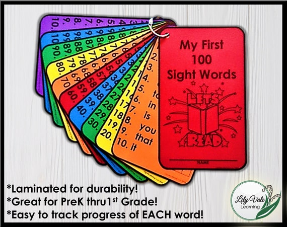 Sight Words, Kindergarten Sight Words, Sight Word Learning, Sight Word  Flashcard, Reading Activity, High Frequency Word, Sight Word Practice