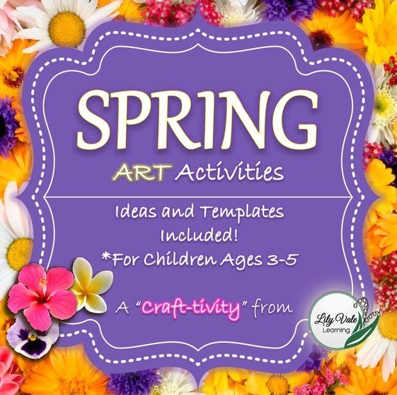 Kids Crafts Spring Preschool Artwork