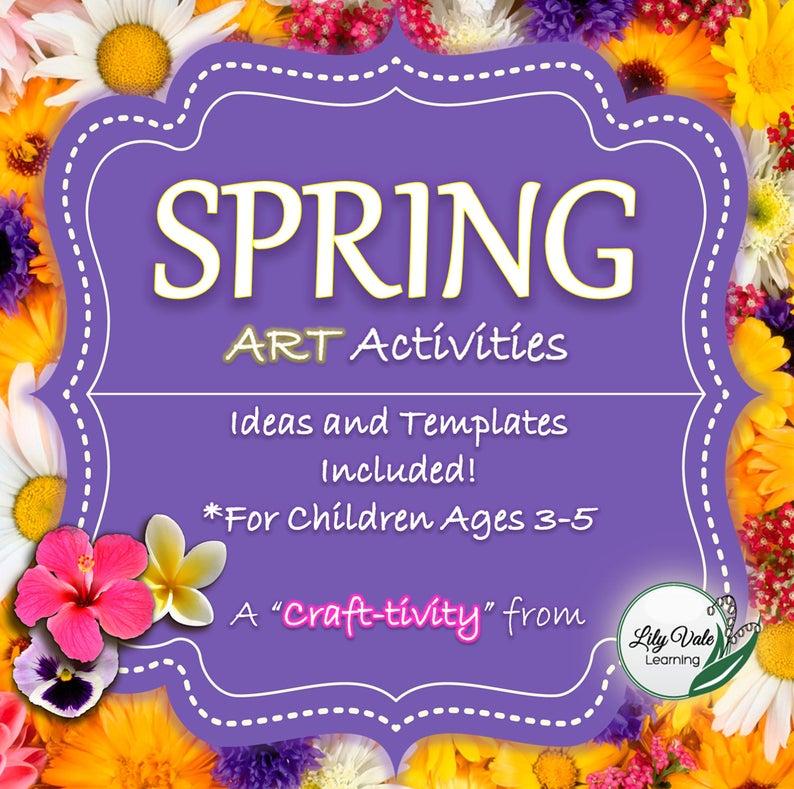 Kids Crafts Spring Spring Crafts Preschool Kids Artwork Etsy