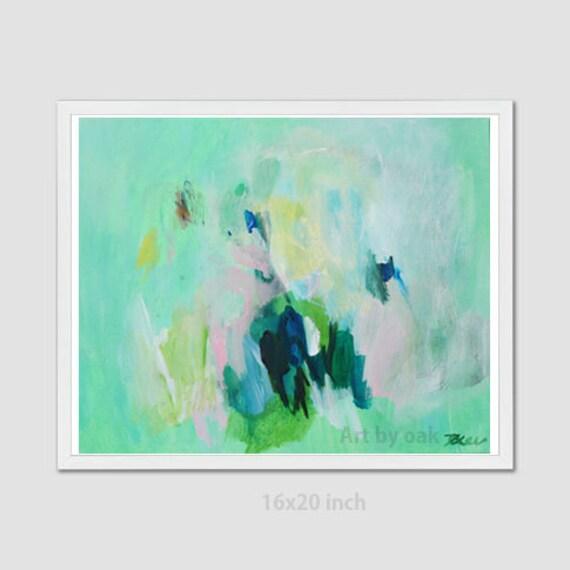 Grune Abstrakte Malerei Moderne Abstrakte Malerei Original Etsy
