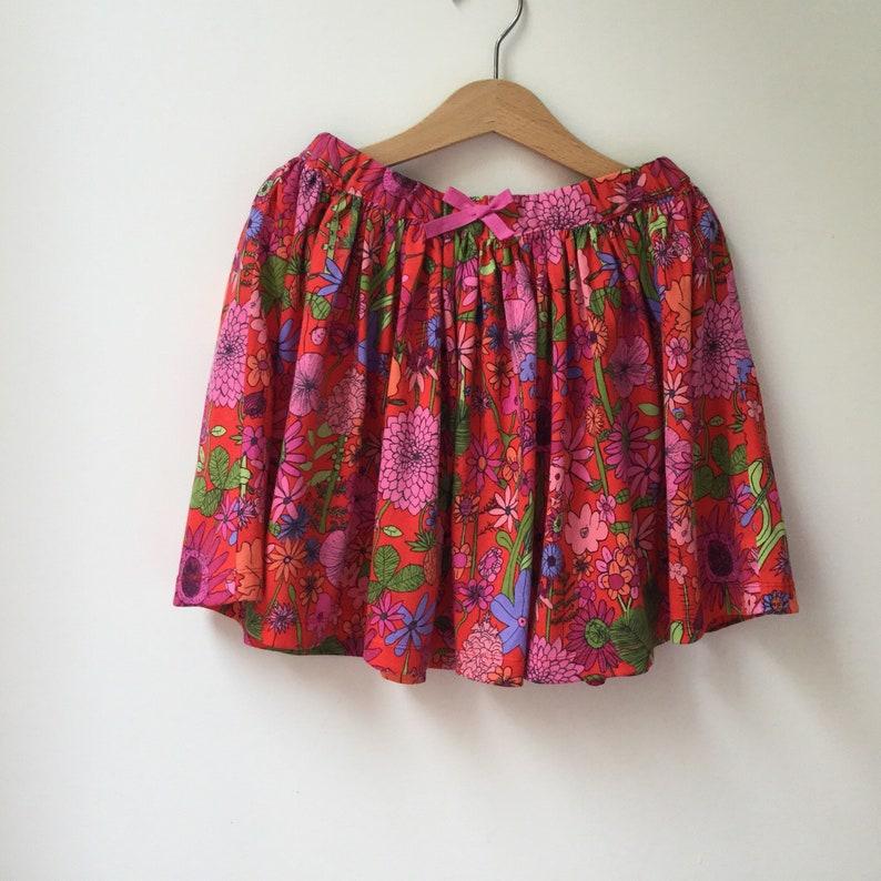 Girls Liberty of London Floral Jersey Skirt