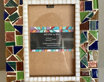 Custom mosaic picture frame - nature themed