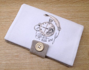 """holster/ pocket car registration document """"PENELOPE"""" handmade style shabby chic/ steampunk , accessory for bag, wallet,"""