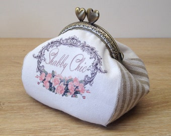 """wallet antique coin purse clasp retro vintage shabby chic / boho chic """"GRACE"""", handmade, gift for her, so chic!"""