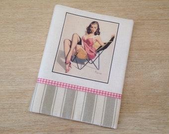 """album photo en tissus """"pin up"""" style vintage pour sac a main pour photo 10x15 cm, album pour sac à main rechargeable, photo book"""
