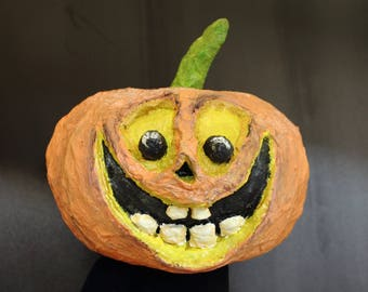 Zucca Halloween Cartapesta.Halloween Decor Etsy