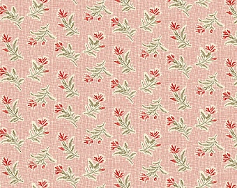 Little Sweetheart Fabric Half Yard Windswept Ballet Slipper Pink Polka Dots Edyta Sitar Laundry Basket Quilts Fabric A-8831-E Andover