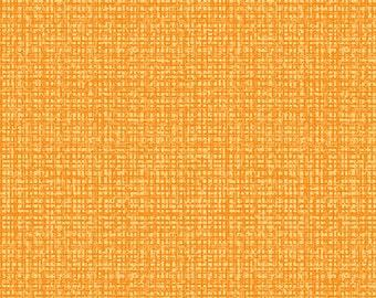 By The Half Yard - Color Weave by Contempt Studio for Benartex Fabrics, Pattern, 06068-34 Medium Orange Crosshatch, Basic, Blender
