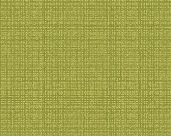 By The Half Yard - Color Weave by Contempt Studio for Benartex Fabrics, Pattern, 06068-04 Green Crosshatch, Blender, Basic