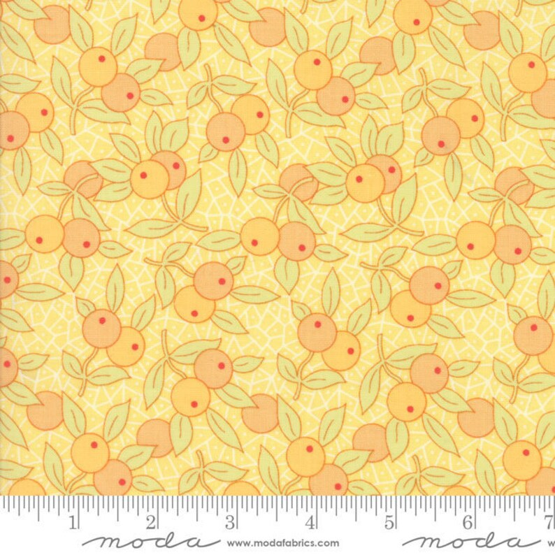 Daisy Cotton Puffs Chestnut Street Fig Tree and Co Moda Fabrics Quilting Cotton