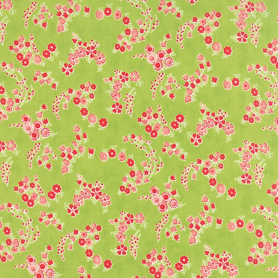 55136 12 Aqua MODA Fabric ~ LITTLE RUBY ~ by Bonnie /& Camille by 1//2 yd