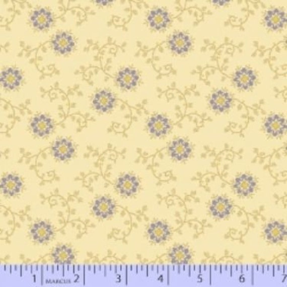 """/""""MILL WORKS/"""" FLORAL COTTON QUILT FABRIC BY THE YARD FOR MARCUS FABRICS 5669-0118"""