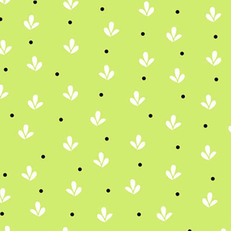 Pattern #9650-66 By The Continuous HALF YARD Girly Girl by Dana Brooks for Henry Glass Green Fleur-de-lis