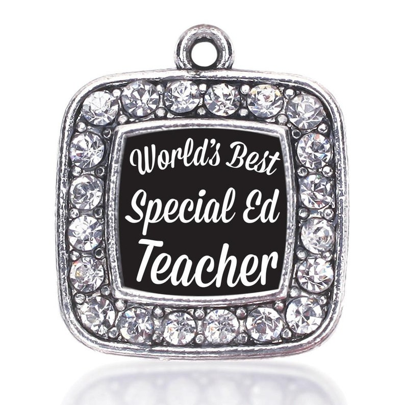 BULK 5 Pcs World/'s Best Special Ed Teacher Charm Antique Silver Sports Charm Word Jewelry Key Chain Pendant #2743