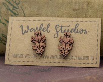 Oak Leaf Studs