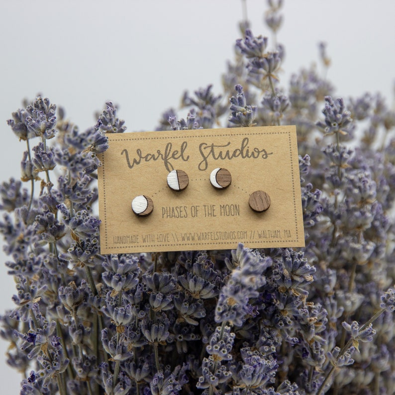 Phases of the Moon Stud Set image 0