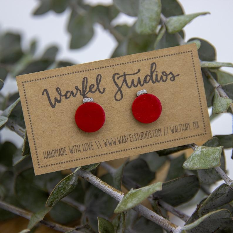 Christmas Ornament Studs image 0