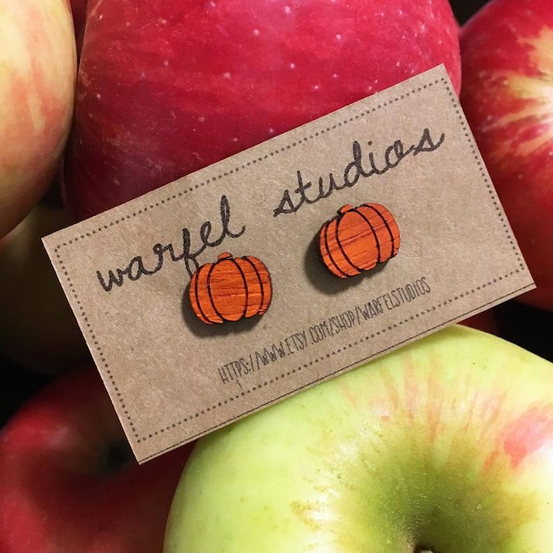Pumpkin Earrings image 0