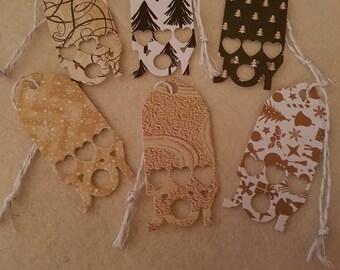 Christmas gift tags with JOY
