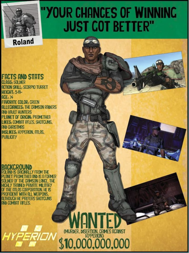 Borderlands 2 Wanted Posters - Roland
