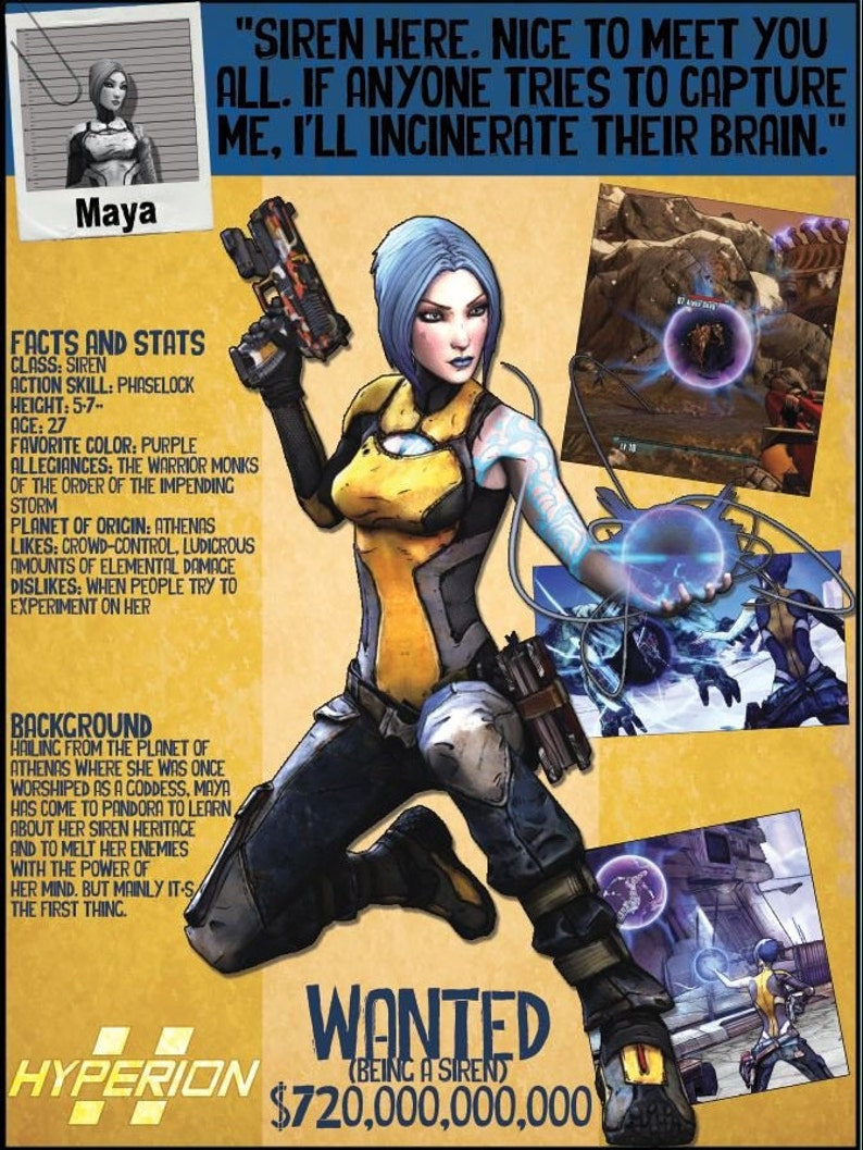 Borderlands 2 Wanted Posters - Maya