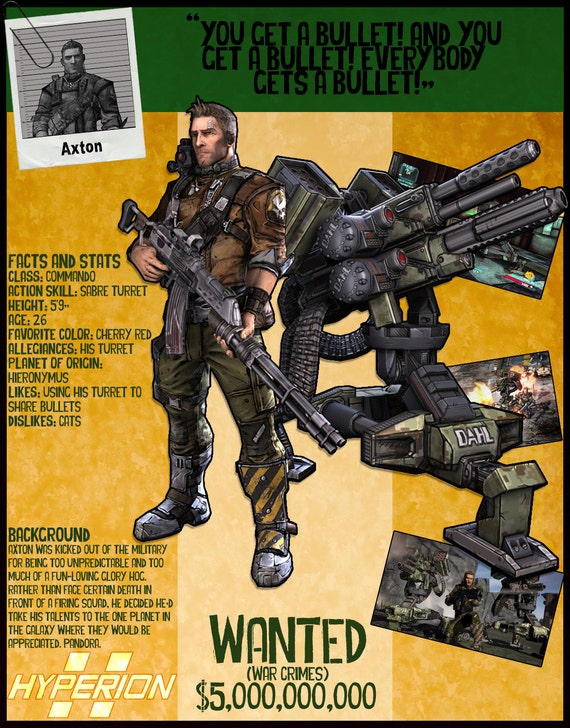 Borderlands 2 Wanted Posters - Axton