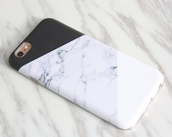 Marble Print iPhone 8 Plus case iPhone X case Galaxy S9 Plus case Galaxy S8 Plus case protective tough & snap case M-002