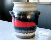 ÜBERLACKER Ceramic Amphora Vase, Vintage Ü Keramik Vase Pattern 333 17, Mid Century Modern German Pottery