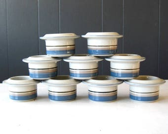 Vintage Arabia of Finland Egg Cup, Uhtua Pattern, Design Inkeri Leivo, Finnish Earthenware Design, Nordic Ceramic Scandinavian Style