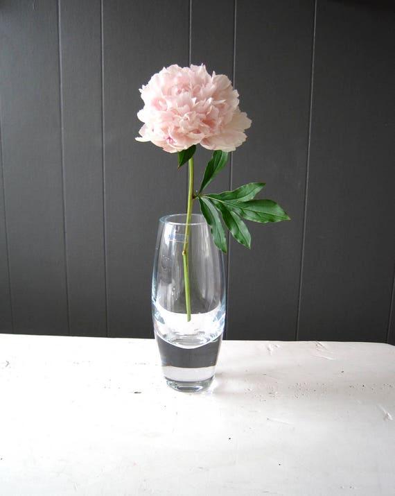 Vintage Krosno Of Poland Bullet Crystal Vase Etsy