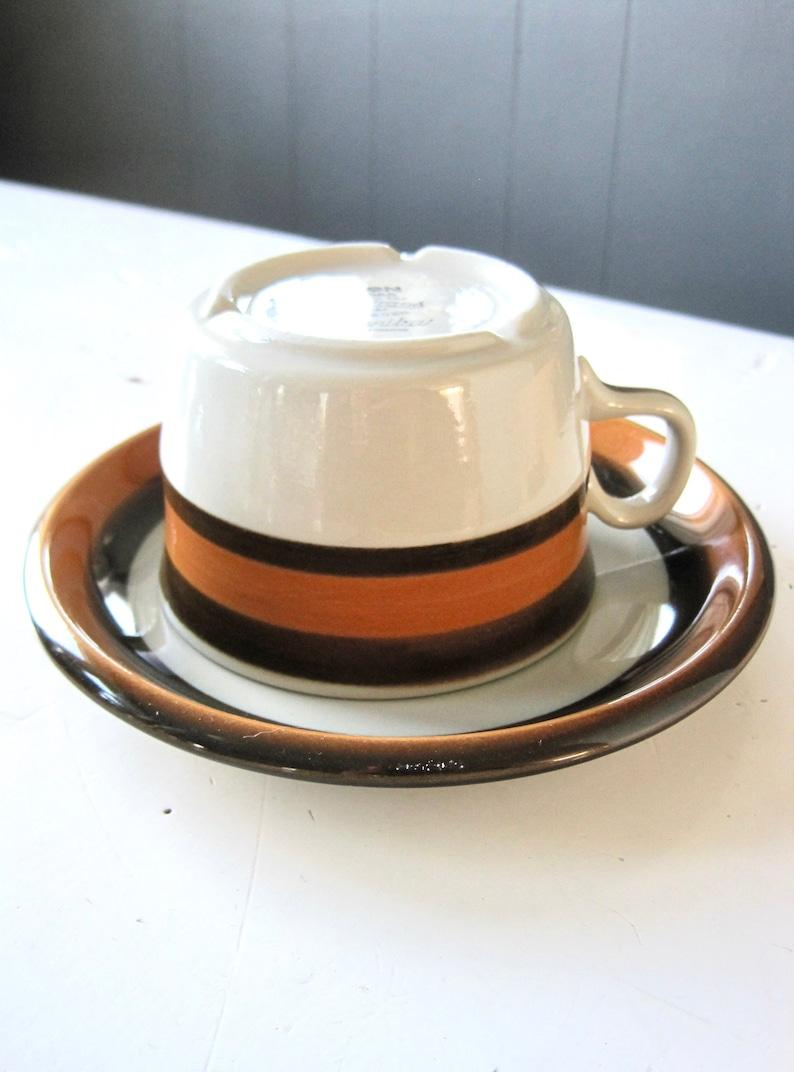 2 Cups /& Saucers Mid Century Scandinavian Rörstrand Sweden Annika